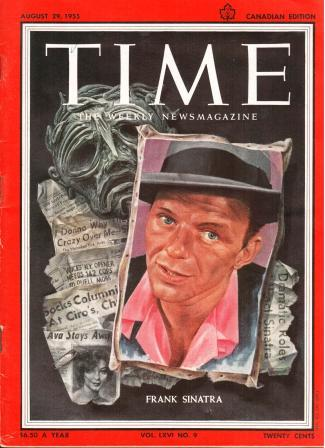 Image for Time Magazine: Canadian Edition, Aug 29, 1955, Frank Sinatra Cover