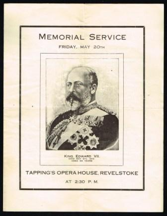 Image for King Edward VII; Memorial Service, Friday, May 20th, 1910