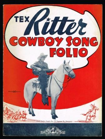 Image for Tex Ritter Cowboy Song Folio