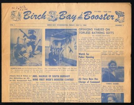 Image for The Birch Bay Booster; July 3, 1964