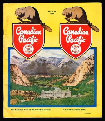 Image for Canadian Pacific Passenger Train Schedules and other Information; April 28, 1946