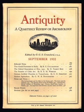 Image for Antiquity. A Quarterly Review of Archaeology, September 1932