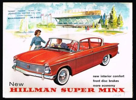 Image for New Hillman Super Minx [1962]