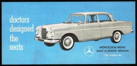 Image for Doctors Designed the Seats; Mercedes-Benz 220 4-Door Sedan