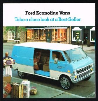 Image for Ford Econoline Vans: Take a Close Look at a Best-Seller; 1974
