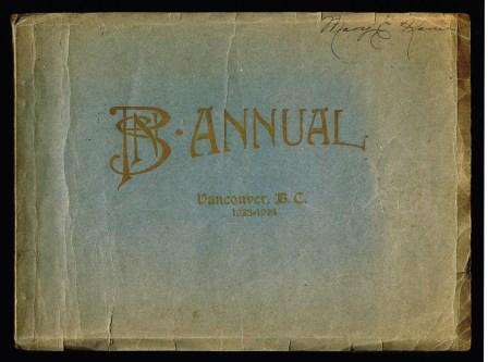Image for Provincial Normal School Annual, Vancouver, BC, 1923-1924