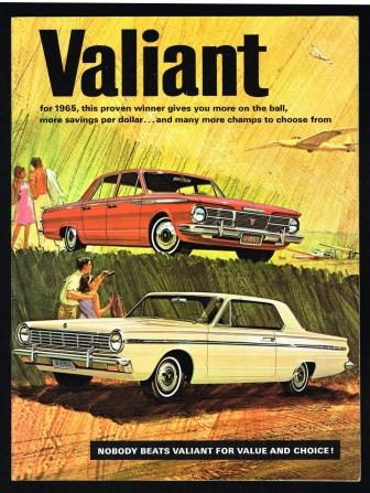 Image for Valiant for 1965; Nobody Beats Valiant for Value and Choice