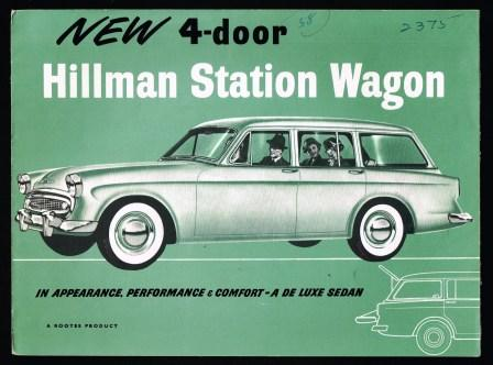 Image for New 4-Door Hillman Station Wagon [1958]