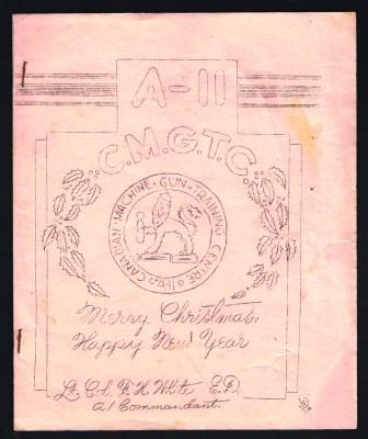 Image for Canadian Machine Gun Training Centre A-II; Christmas 1944, Dinner Menu