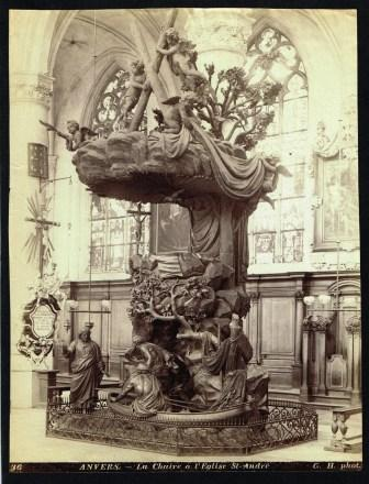 Image for Anvers; La Chaire a l'Eglise St. Andre - Photograph