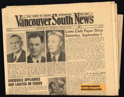 Image for Vancouver South News; August 30, 1951
