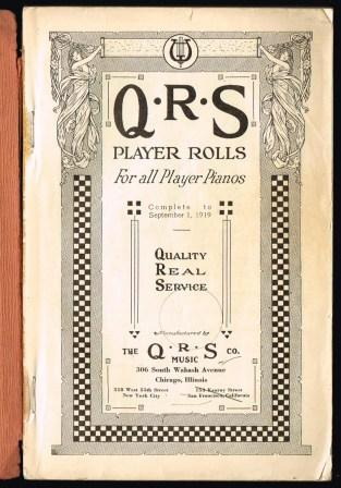 Image for QRS Player Rolls for All Player Pianos, 1920