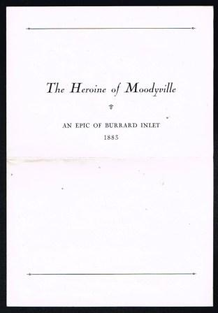 "Image for The Heroine of Moodyville""; an epic study of Burrard Inlet, 1883"