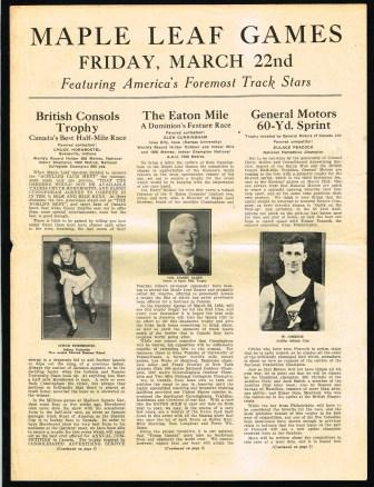 Image for Maple Leaf Games; Friday, March 22, 1935 at Maple Leaf Gardens
