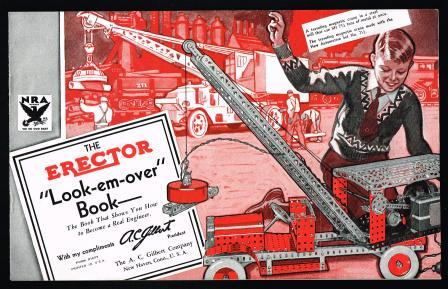 Image for The Erector; Look-em-over Book [1930s]