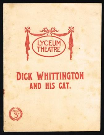 Image for Dick Whittington and His Cat; Theatre Program, 1903