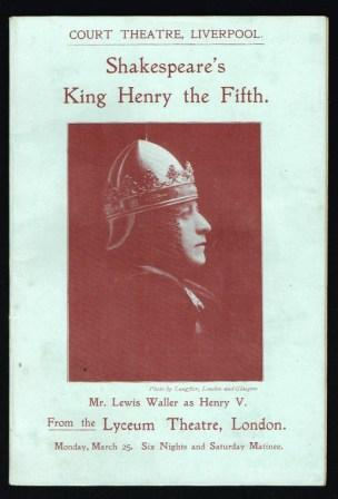 Image for Shakespeare's Henry V; An Account and an Estimate