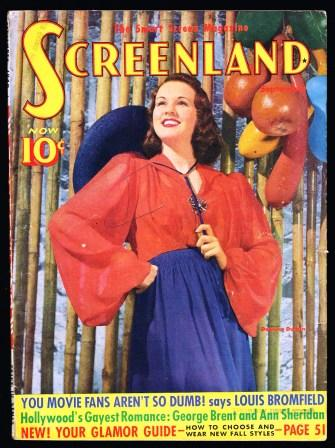 Image for Screenland; September, 1940