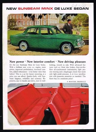 Image for New Sunbeam Minx De Luxe Sedan [1966?]