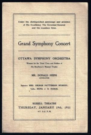 Image for Grand Symphony Concert: Ottawa Symphony Orchestra, 1911