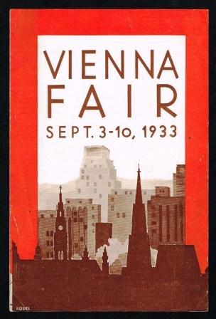 Image for Vienna Autumn Fair Sept. 3-10, 1933