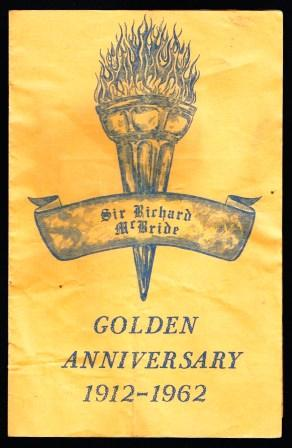 Image for Sir Richard McBride School; Golden Anniversary 1912-1962