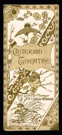 Image for Criterion Theatre Program; London, 1891