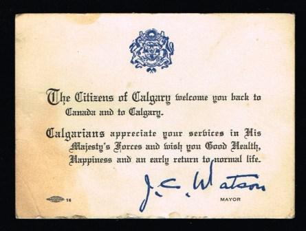 Image for The Citizens of Calgary Welcome You Back to Canada and to Calgary
