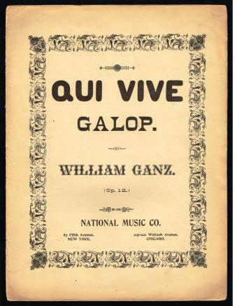 Image for Qui Vive Galop; Op. 12