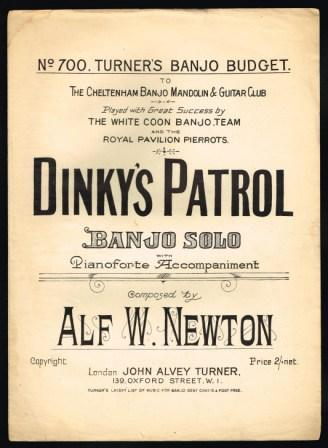 Image for Dinky's Patrol; Banjo Solo with Pianoforte Accompaniment