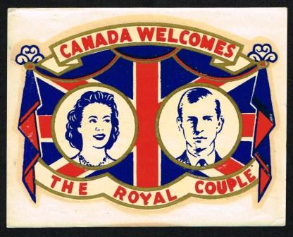 Image for Unused Decal Commemmorating the Royal Visit of 1951 of Princess Elizabeth and the Duke of Edinburgh