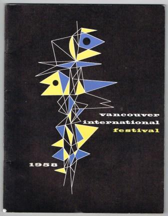 Image for First Annual Vancouver International Festival 1958; Souvenir Program