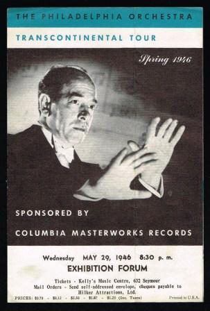 Image for The Philadelphia Orchestra; Transcontinental Tour, Spring, 1946