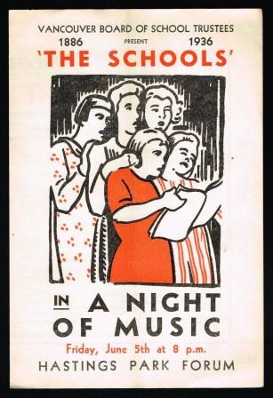 Image for The Schools in,  'A Night of Music'