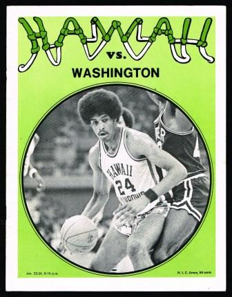 Image for Basketball Program-Magazine; University of Hawaii vs  Washington, Jan 23-24, 1976