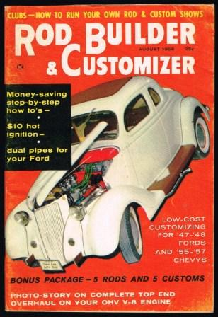 Image for Rod Builder & Customizer; August, 1958