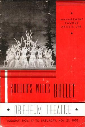 Image for Sadler's Wells Ballet: Orpheum Theatre, Vancouver, 1953