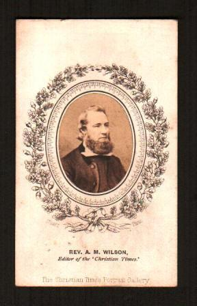 Image for Carte-de-Visite Photograph of the Reverend A. M. Wilson, Editor of the Christian Times