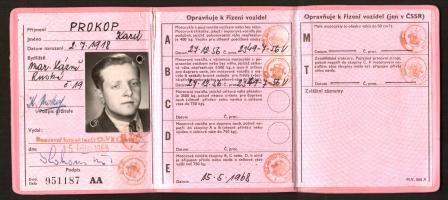 Image for Czech Republic Driver's Licence [Permis de Conduire], dated 1968