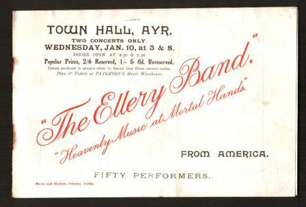 Image for Concert Program for the Ellery Band: Ayr, Scotland, Circa 1912