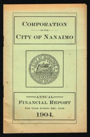 Image for Corporation of the City of Nanaimo: Annual Financial Report...1904