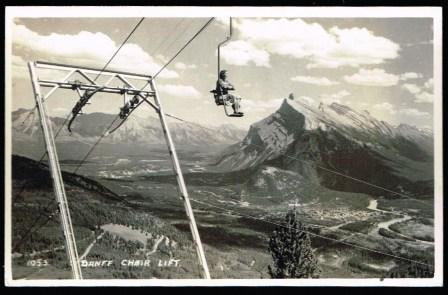 Image for Banff Chair Lift; Real Photo Postcard