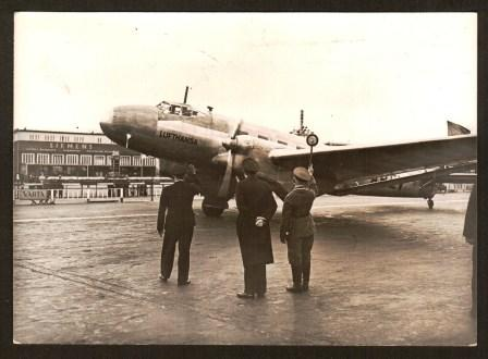 Image for Pre-War Photograph of a Lufthansa Junkers Ju86