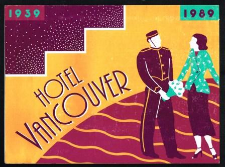 Image for Hotel Vancouver 50th Anniversary Poster, 1939-1989