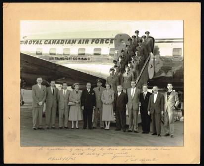 Image for Group Photograph: Paul Martin Senior and Diplomats on World Tour, 1957, Signed