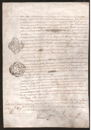 Image for Old French Legal Document Dated 1767