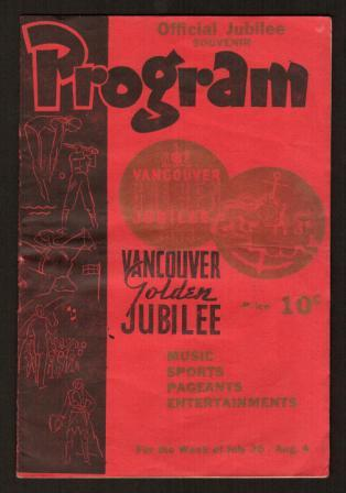 Image for Vancouver Golden Jubilee, Official Souvenir Program, 1936