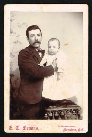Image for Cabinet Card Portrait of a Man and Baby, C1895 [Nanaimo, B. C.]