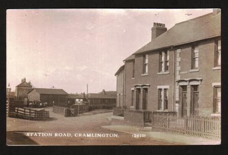 Image for Antique Real Photo Postcard of Station Road, Cramlington, Northumberland, UK: 1916