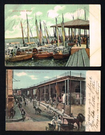 Image for Cuba: Lot of Two Antique Postcards, 1906-8